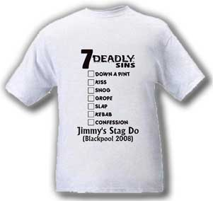 7 Deadly Sins Stag T-Shirt