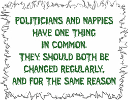 Politicians And Nappies Funny T-Shirt